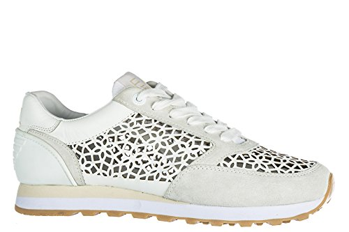 Emporio Armani EA7 scarpe sneakers donna in pelle nuove heritage running laser g