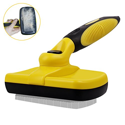Peekaboo Dog Grooming Slicker Brush - Self Cleaning Pet Deshedding Brush for Shedding Short Long Hair Large Medium Dogs Cats Undercoat by Peekaboo