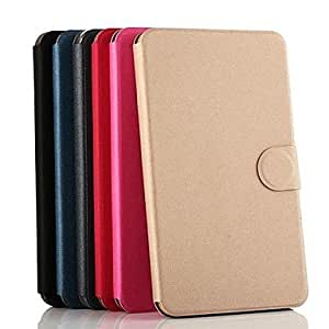 TOPQQ Gold Beach Pattern PU Leather Full Body Case with Card Slot for Samsung Galaxy Tab 4 8.0 T330 , Blue