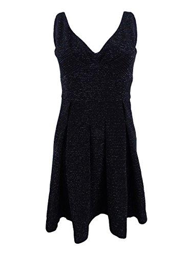 Betsy & Adam 128 $ Womens Nouvelle Robe Évasé En Forme De + Paillettes Noir 1196 2 B + B