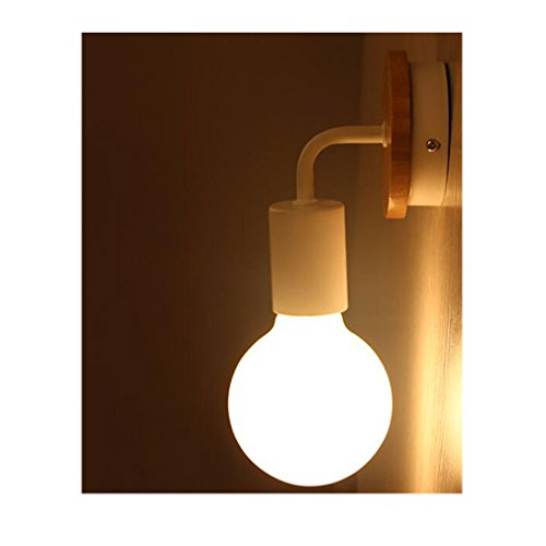 2-Pack of Dimmable Minimalist Wall Light Sconce Plug-In E26/27 Base Modern Contemporary Style Down Lighting Dimmble Wall Lamp Fixture for Bedroom, Closet, Guest Room Hall Night Lighting (White) - Guest Room Lamp