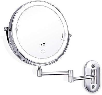 7XメイクLEDミラー2 - フェイスタッチ調光LEDライトウォールマウント浴室の鏡は、最大バニティミラー8インチを作ります