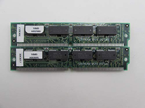 Southland Micro Sys 30436T7 32MB 2 x 16MB 60ns 72-Pin SIMM Memory Module A003995