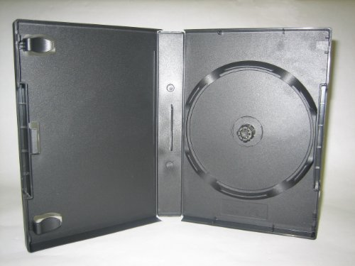27MM, 8 DISC STACKING HUB DVD CASE, W/ BOOKLET CLIPS, BLACK, 1182Q, 80 PCS