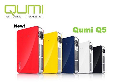 Vivitek Qumi Q5 500 Lumen WXGA HD 720p HDMI 3D-Ready Pocket DLP Projector with 4GB Memory (Blue)