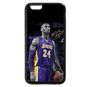 Onelee(TM) - Customized Black Soft Rubber TPU iPhone 6 Case, NBA Superstar Lakers Kobe Bryant Black Soft Rubber TPU iPhone 6 Case