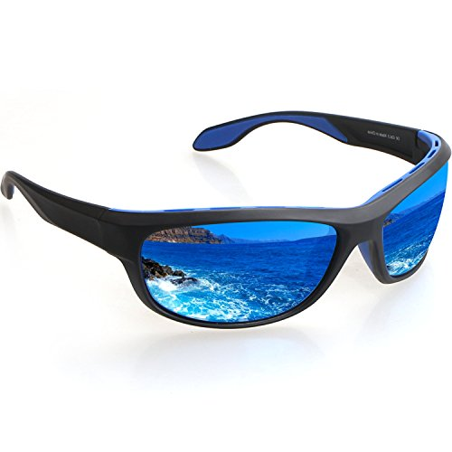 Avoalre Polarized Sports Sunglasses 100% UV Protection Sport Glasses for Men Women TR90 Unbreakable Frame for Bike Fishing Driving Running Climbing Outdoor ()