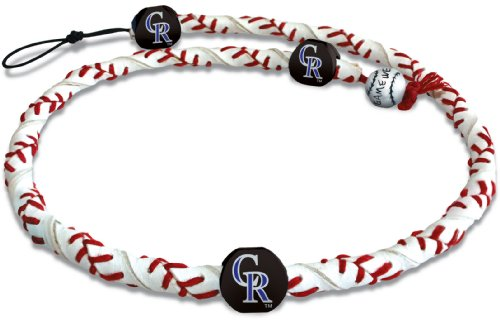 Classic Frozen Rope Baseball Necklace (Colorado Rockies Mlb Leather)