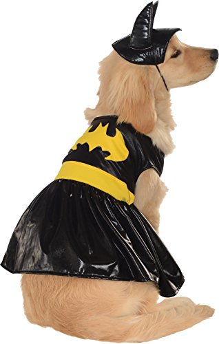 UHC Batgirl Outfit Dc Comics Fancy Dress Puppy Halloween Pet Dog Costume, (Batgirl Costumes For Dogs)