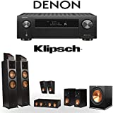 Klipsch RP-8000F 5.1.4 Dolby Atmos Home Theater System with Denon AVR-X4500H 9.2-Channel 4K Home Theater AV Receiver