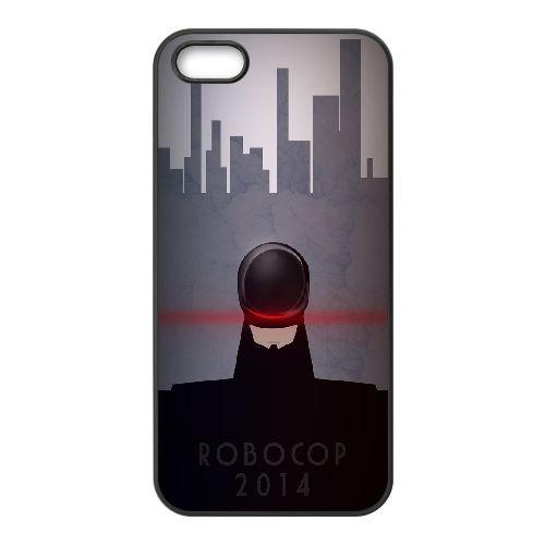 Alex Murphy Robocop coque iPhone 5 5S cellulaire cas coque de téléphone cas téléphone cellulaire noir couvercle EOKXLLNCD21471
