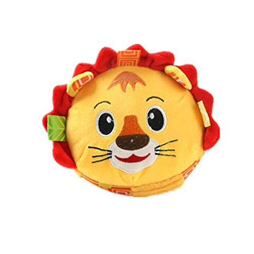 Jeu d'action pour enfants Animal de bande dessinée en peluche Beat jouet apaisant bébé Lion Bells Kids Toy (coloré) Strollway