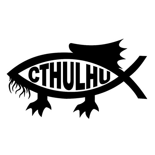 CALAP-STORE - 1PC 13.7x7.8cm Cthulhu Fish Fashion Car Sticker Decor Vinyl Decal