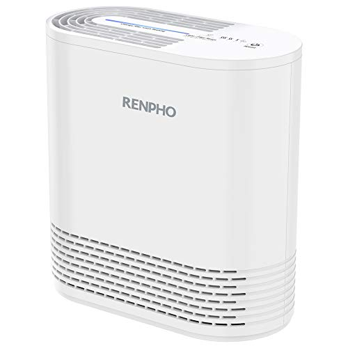 RENPHO Air Purifier for Home Allergies and Pets, Air Purifiers for Bedroom with True HEPA Filter, Air Cleaner for Smokers Office Child Room, Eliminates Allergens Odors Mold Dust Pet Dander (Purifier Idylis Tower Air)