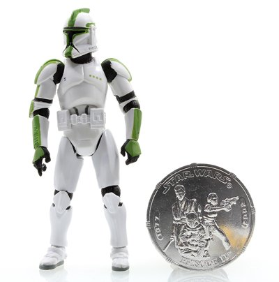 Green Clone - Star Wars * 30th Anniversary - SAGA Legends * GREEN Clone Trooper Officer + Collector Coin