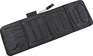 Relaxzen 60-2907P04 10-Motor Vibration Massage Standard Mat with Heat, Charcoal Gray