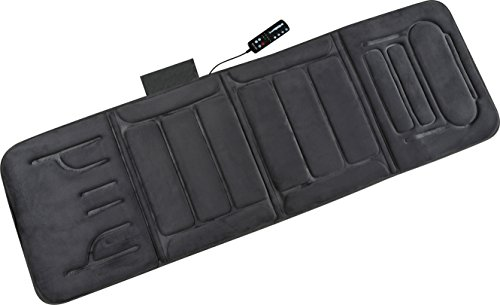 Relaxzen 10-Motor Massage Standard Mat with Heat, Charcoal Gray