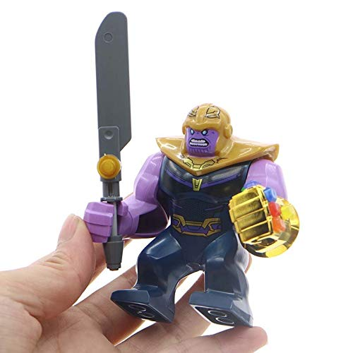 - Super Heroes Avengers Infinity War Thanos Gold Plated Infinity Gauntlet with 24Pcs Power Stones Gems Building Blocks Figures decool0269 sy1099-2