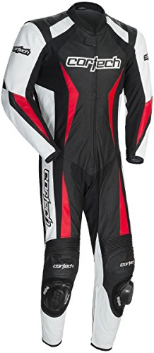 Cortech Latigo 2.0 RR Leather One Piece Suit (LARGE) (BLACK/WHITE/RED)