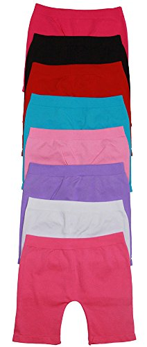 ToBeInStyle Pack of 6 Girls' Tights - Short - Solid Color