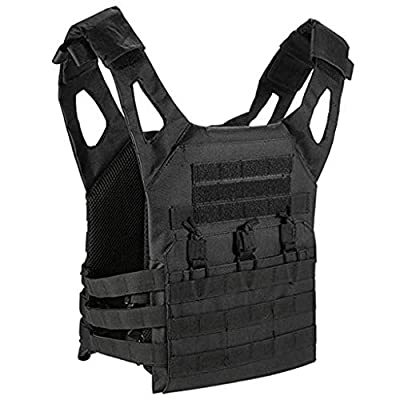 ZIXUN Tactical CS Field Vest Unisex Adults Outdoor Breathable Combat Training Vest Nylon Adjustable for Outdoor Hunting, Fishing, Army Fans, Survival Game