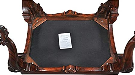 Amazon.com: EuroLuxHome Bench Chippendale Hand-Carved ...