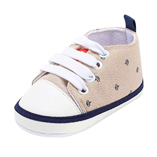 Newborn Shoes FAPIZI Toddler Baby Girls Boys Print Cute Soft Sole Casual Flats Bandage Canvas Shoes Khaki