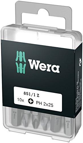 Wera 05072401001 Phillips-Recess-Bits DIY-Box 851/1 Z PH 2 DIY