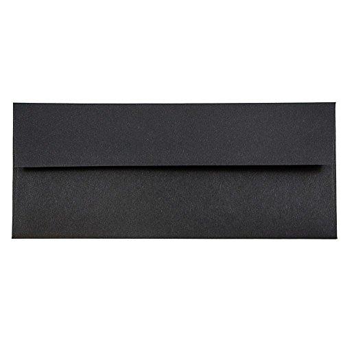 "JAM Paper #10 Business Envelope - 4 1/8"" x 9 1/2"" - Black Linen - 25/pack"