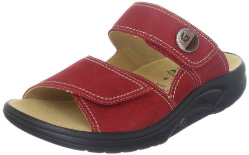 Ganter AKTIV Fabia, Weite F 3-202328-41000 - Zuecos de cuero nobuck para mujer Rojo