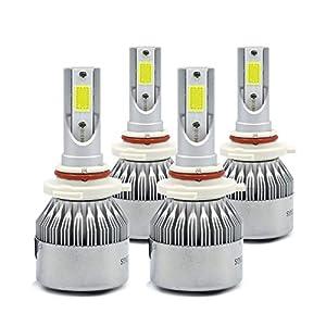 9005+9006 Combo 200W 20000LM CREE LED Headlight Kit High & Low Beam Light Bulbs