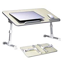[Large Size] Avantree Adjustable Laptop Bed Table, Portable Standing Desk, Foldable Sofa Breakfast Tray, Notebook Stand Reading Holder for Couch Floor Kids - TB101L