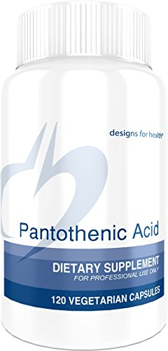 Designs for Health - Pantothenic Acid - 500 mg Vitamin B5, 120 Capsules