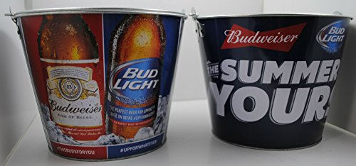 Bud Light Budweiser Beer Ice Bucket The Summer is -