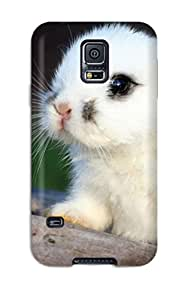 New Arrival Cute White Bunny Lsn-147drFIEWmD Case Cover/ S5 Galaxy Case