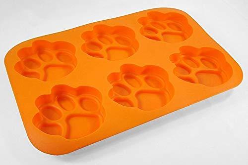 MasterPieces NCAA Pawprint Muffin/Cupcake Pan, One Size, Paw Print Orange
