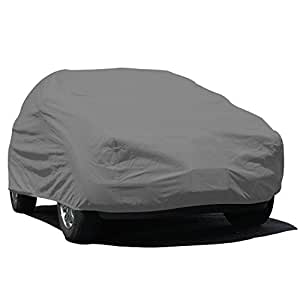 Budge Rain Barrier SUV Cover Fits Small SUVs up to 162 inches, URB-0 - (Polypropylene with Waterproof Film, Gray)