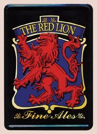 The Red Lion Fine Ales Metal Card - Miniature Beer (Fine Beer Pub Sign)