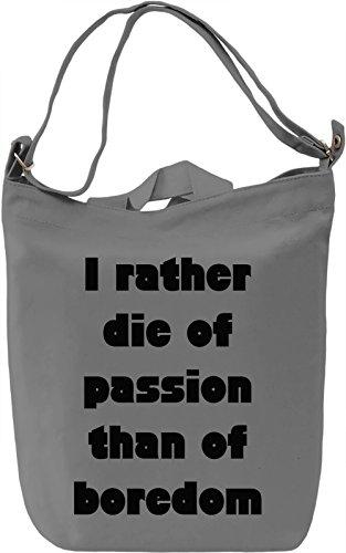 Die of Passion Borsa Giornaliera Canvas Canvas Day Bag| 100% Premium Cotton Canvas| DTG Printing|