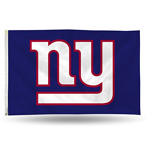 Rico NFL New York Giants 3-Foot by 5-Foot Single Sided Banner Flag with Grommets