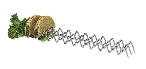 (G.E.T. Enterprises Stainless Steel Stainless Steel Taco Holder for Eleven or Twelve Tacos Stainless Steel Specialty Servingware Collection 4-81828 (Pack of 1))