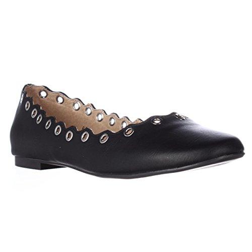 Round Flats Black Leather Alexander Tessye Ballet Athena Womens Toe 0qSRfF