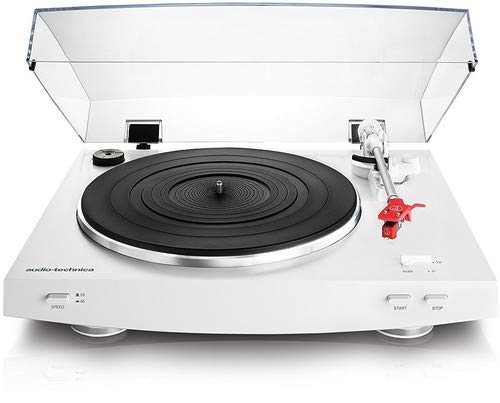 (Audio-Technica AT-LP3WH Fully Automatic Belt-Drive Stereo Turntable, White)