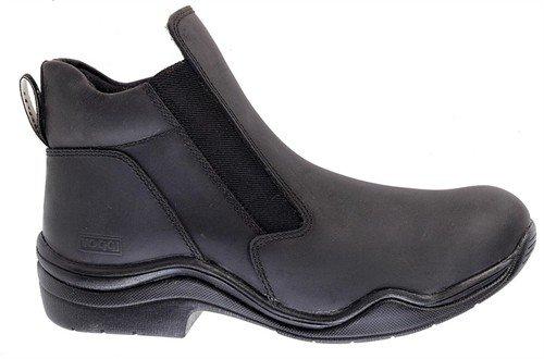 Toggi Suffolk cuir imperméable Boots d'équitation à enfiler pour enfant Noir Taille 8: 42 (UE)
