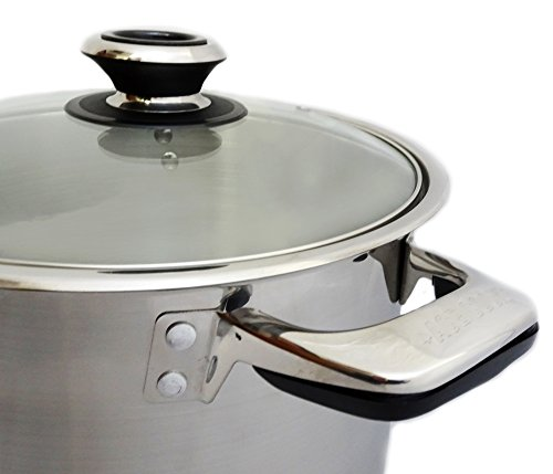Excelife AC820 Ace Stainless Steel Induction Stock Pot, 20 quart, Silver