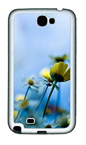 Samsung Galaxy Note II N7100 Cases & Covers -Fresh daisies Custom TPU Soft Case Cover Protector for Samsung Galaxy Note II N7100šC White