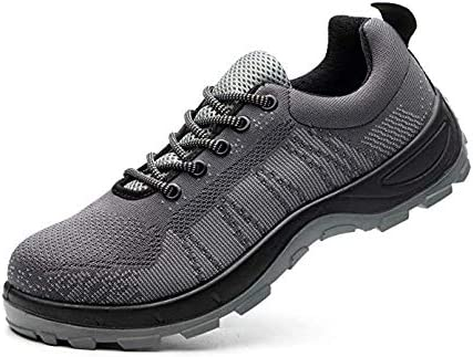 Women Work Safety Shoes Steel Toe Hiking Breathable Outdoor Construction Sneaker