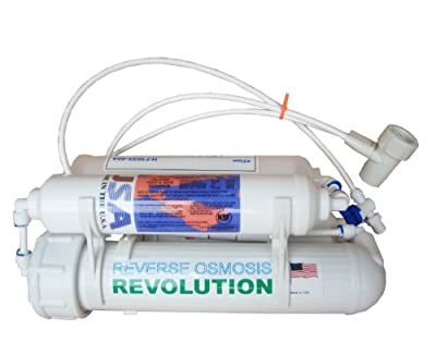 4-stage Portable Reverse Osmosis RO Revolution Water Purification System, 75 GPD, remove fluoride, made in USA