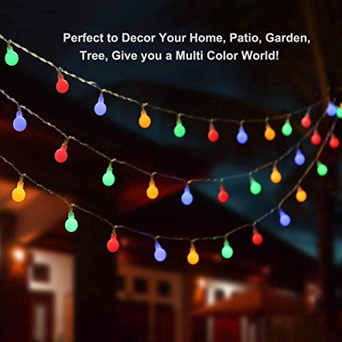ALOVECO LED String Lights, 14.8ft 40 LED Waterproof Ball Lights, 8 Lighting Modes, Battery Powered Starry Fairy String Lights Bedroom, Garden, Christmas Tree, Wedding, Party(Multi Color)