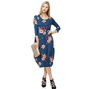 Pastel by Vivienne Women's Cocoon Midi Dress with Pocket – Made in USA (20+ Colors)